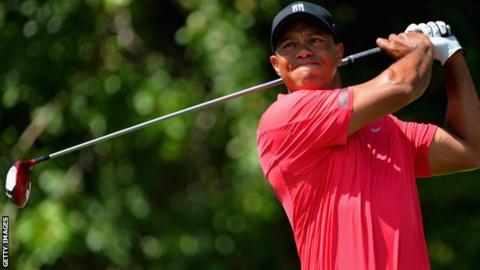 World number one Tiger Woods