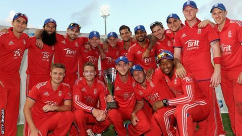 England celebrate win