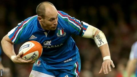 Italy skipper and number eight Sergio Parisse