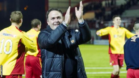Albion Rovers manager James Ward