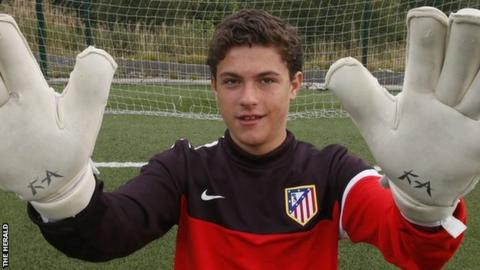 Joshua Rae was on trial with Atletico Madrid