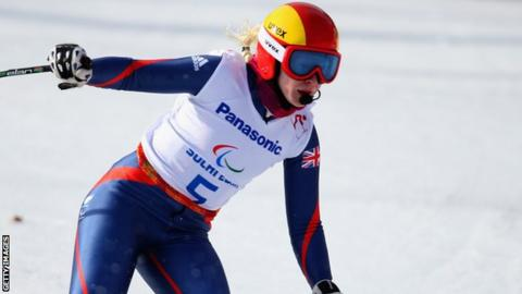 Visually-impaired skier Kelly Gallagher from Northern Ireland
