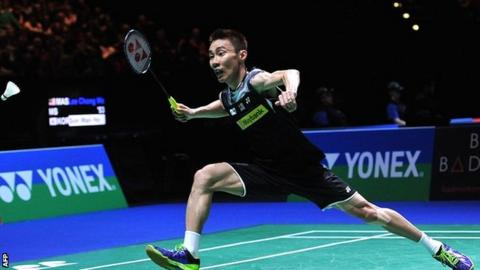 Chong Wei Lee in action during his semi-final victory over Wan Ho Son