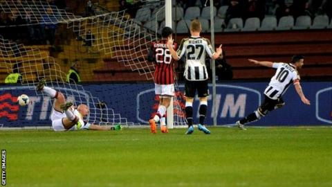 Antonio Di Natale scores