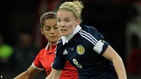 Kim Little of Scotland