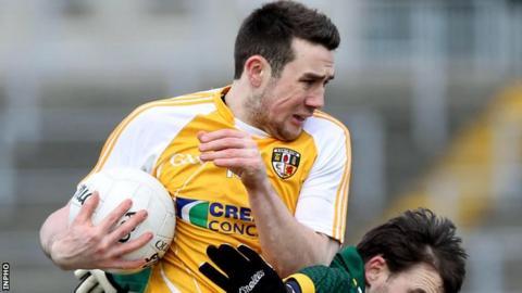 Antrim goalscorer Conor Murray