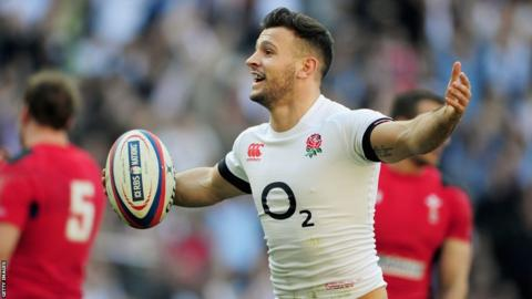 England scrum-half celebrates scoring his side's opening try against Wales in the Six Nations at Twickenham