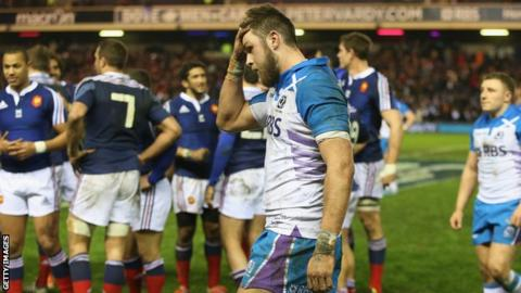 Ryan Wilson and Scotland were left dismayed