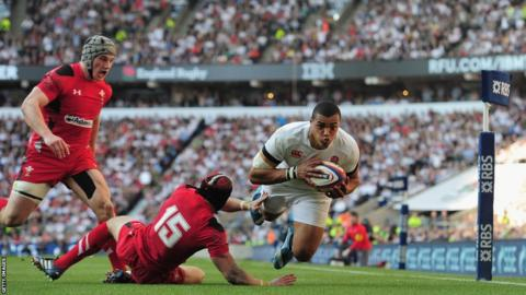 Luther Burrell also goes over for the hosts