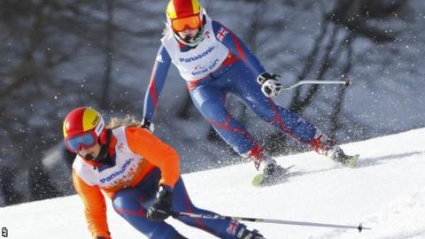 Kelly Gallagher and Charlotte Evans on the slopes