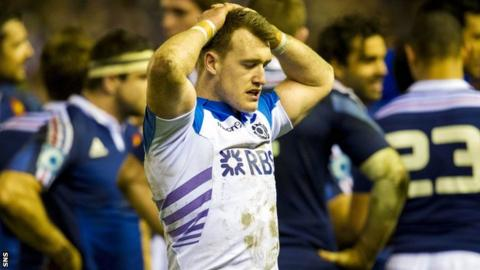 Stuart Hogg was left disappointed at the final whistle