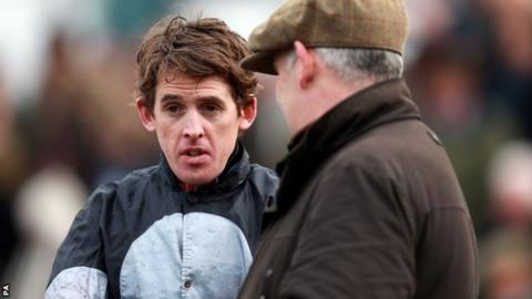 Jockey Jason Maguire and trainer Donald McCain