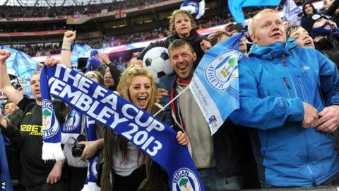 Wigan fans at the 2013 FA Cup