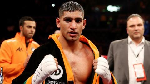 Former world champion Amir Khan