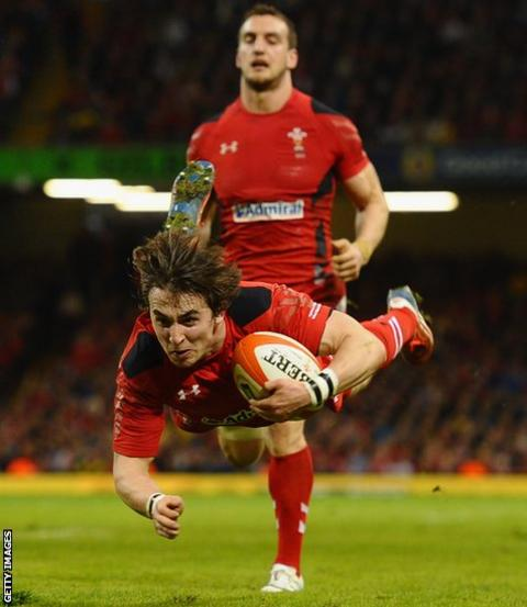 Rhodri Williams completes Wales' rout, with his side's seventh try converted by James Hook, to end the Six Nations with a 51-3 win over Scotland.