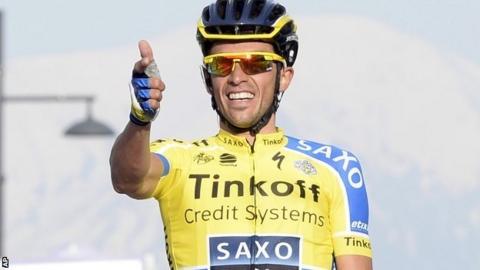 Alberto Contador wins stage four of the Tirreno-Adriatico