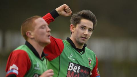 Curtis Allen was on target as Glentoran proved too strong for Ballinamallard at Ferney Park