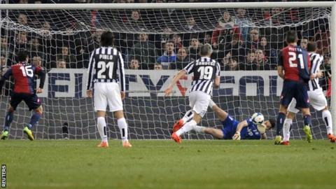 Buffon saves penalty