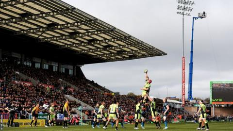 Christian Day takes a line-out