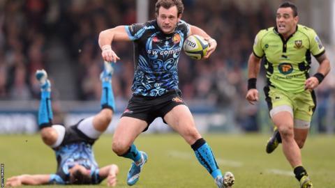 Luke Arscott bursts through for Exeter