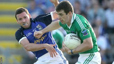 Barry Owens (right) in action against Cavan in last year's Championship