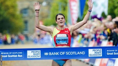 Susan Partridge won the Great Scottish Run half marathon in Glasgow last year