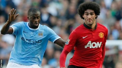 Yaya Toure & Marouane Fellaini