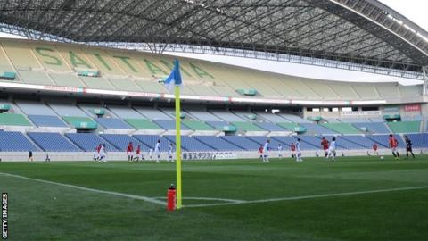 Urawa Red Diamonds played in front of an empty stadium after fans were banned for racist behaviour