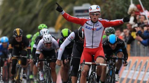 Katusha's Alexander Kristoff wins the Milan-San Remo classic