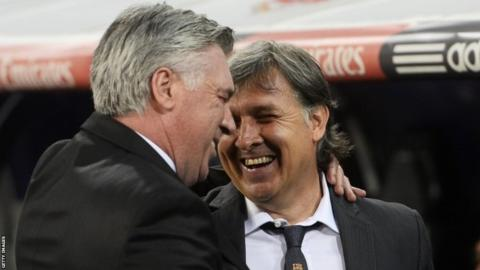 Carlo Ancelotti and Gerardo Martino