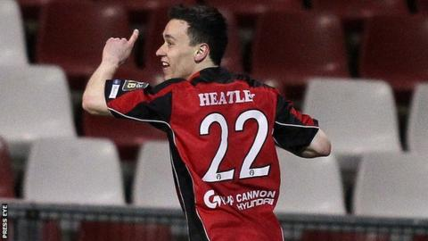 Paul Heatley scored both Crusaders goals at Seaview