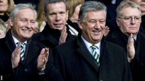 Celtic chairman Iain Bankier and chief executive Peter Lawwell