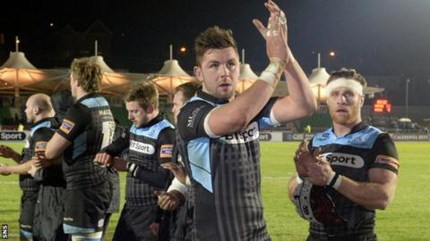 Glasgow's Ryan Wilson celebrates