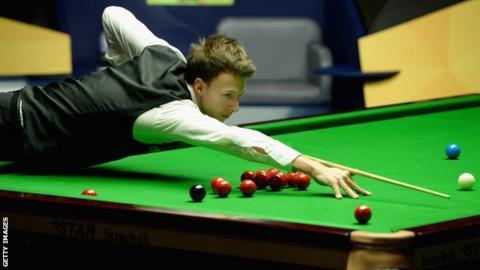 English snooker player Judd Trump