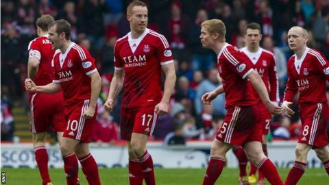 Aberdeen celebrate their equaliser