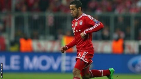 Bayern's Thiago Alcantara