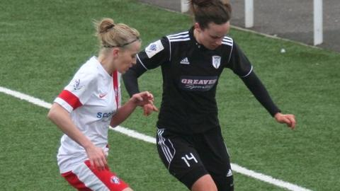 Glasgow City's Cheryl McCulloch in action against Spartans