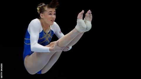 British all-around champion Rebecca Tunney