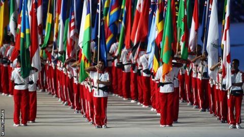The Commonwealth Games opening ceremony in New Delhi