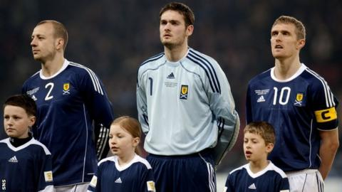 Craig Gordon last played for Scotland in November 2010