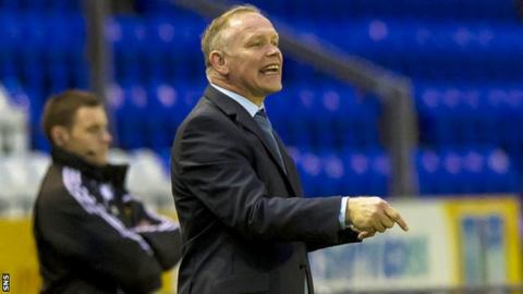 John Hughes shouts instructions as Inverness lose 2-1 to Motherwell