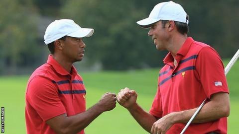 Tiger Woods (left) and Matt Kuchar