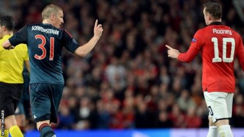 Bastian Schweinsteiger and Wayne Rooney