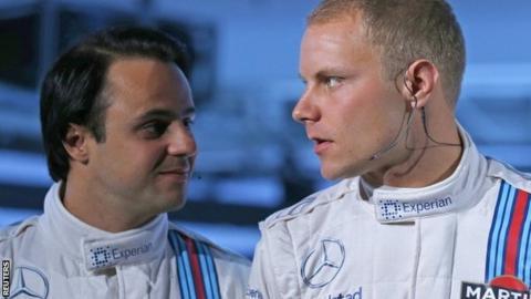 Felipe Massa and Valtteri Bottas