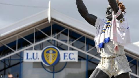 The symbolic Billy Bremner statue at Elland Road