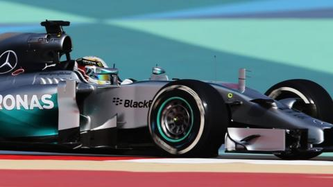 Lewis Hamilton fastest for Mercedes in Bahrain practice one
