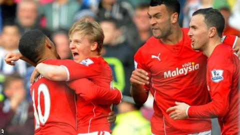Cardiff earned a draw against West Brom with a 95th-minute equaliser