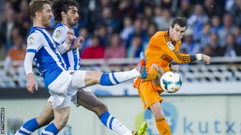a57b0740a Real Madrid continued their pursuit of Spanish title rivals Atletico Madrid  and Barcelona with a comfortable win at sixth-placed Real Sociedad.
