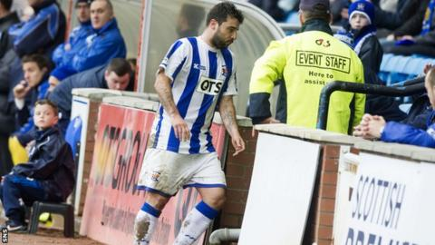 Alexei Eremenko was unhappy at being substituted during Kilmarnock's 2-1 defeat to St Johnstone