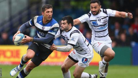 Gavin Henson was named man of the match as Bath beat Brive 39-7 in the Amlin Cup quarter-finals.